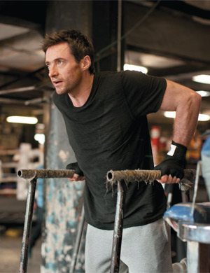 "Hugh Jackman spent more than a year getting in shape for the upcoming robo-boxing flick ""Real Steel."" - James Fisher"