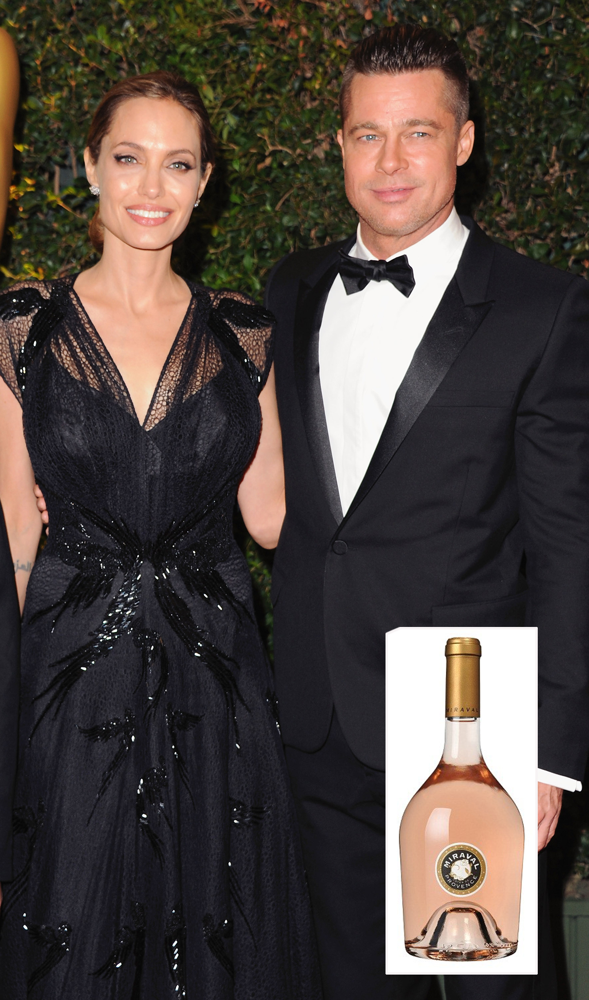 Angelina Jolie and Brad Pitt's rosé is a hit. (Getty Images)