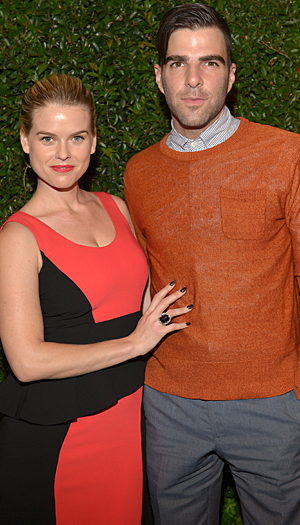 Alice Eve and Zachary Quinto (Charlie Gallay/Getty Images)