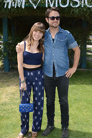Sophia Bush and Justin Chatwin (Michael Kovac/Getty Images for H&M)