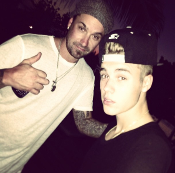 Justin Bieber with his dad earlier this year. (Instagram)