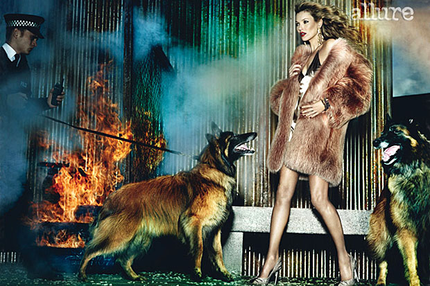 Kate Moss in Allure magazine (Mario Testino)