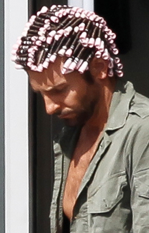 Cooper in curlers on March 20. (INFDaily.com)