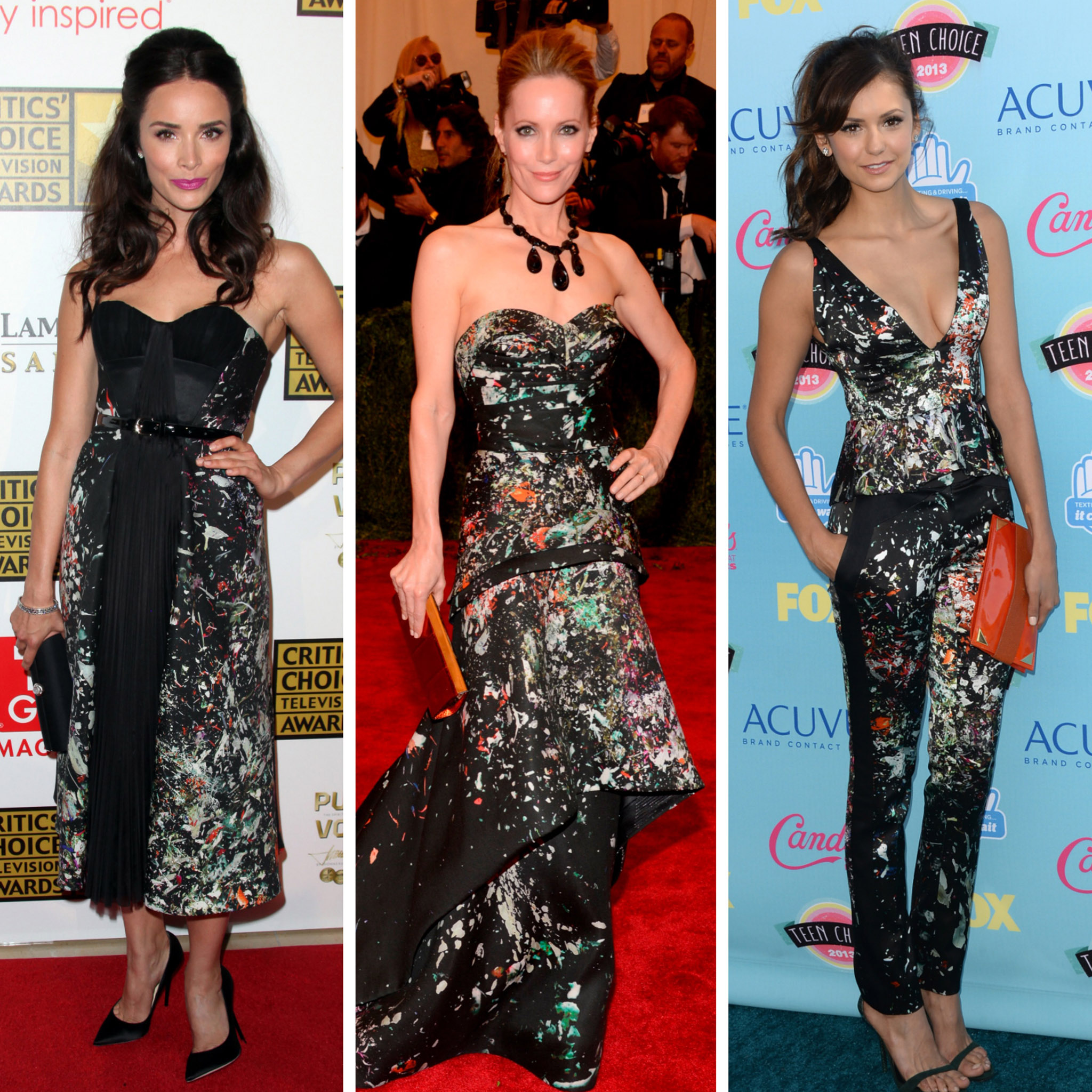 (L-R) Abigail Spencer, Leslie Mann, Nina Dobrev (Getty Images)