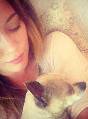 Hilary Duff and Lola (Twitter)