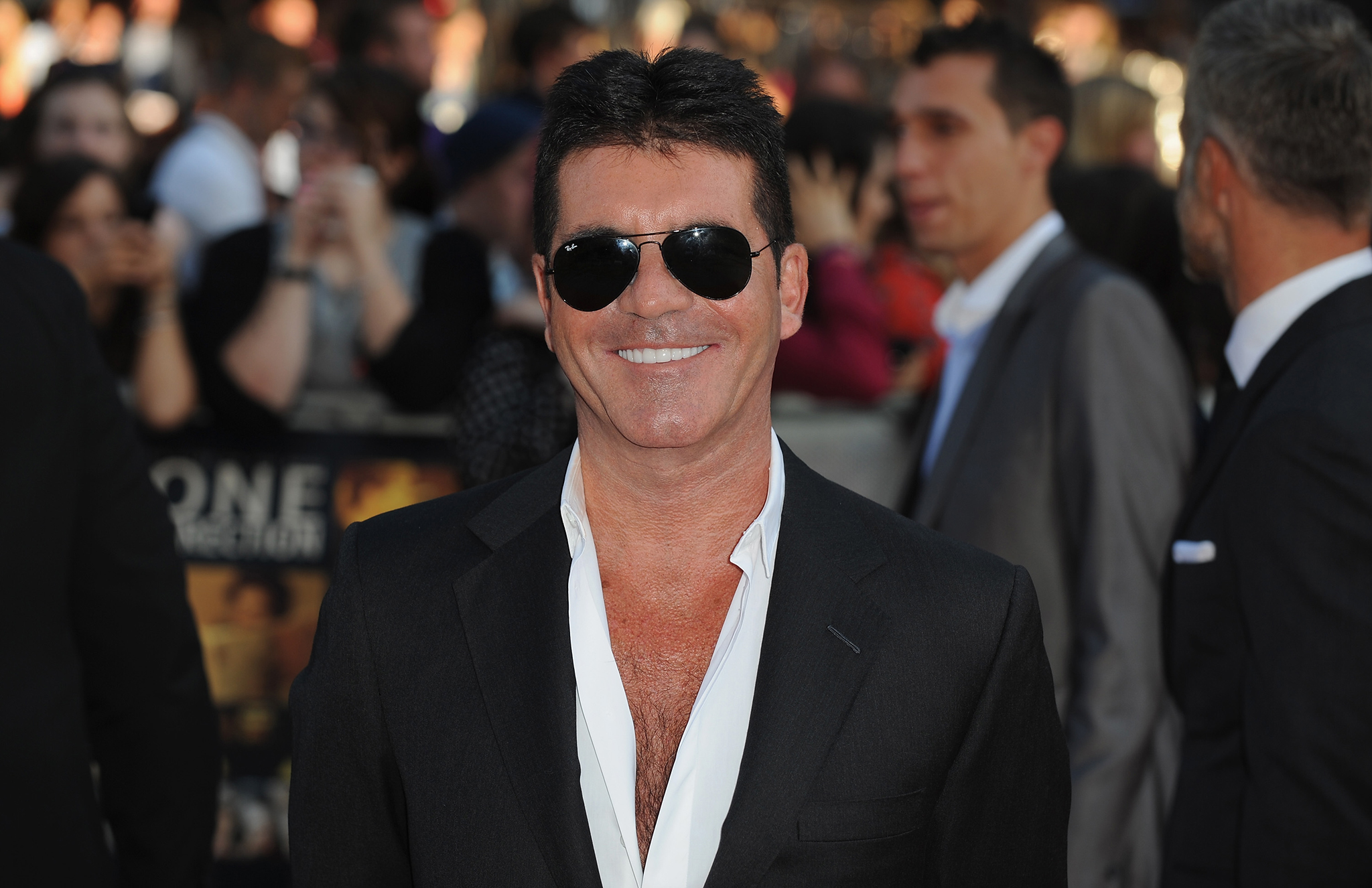 Simon Cowell attends the premiere of 'One Direction: This Is Us' in London (WireImages)