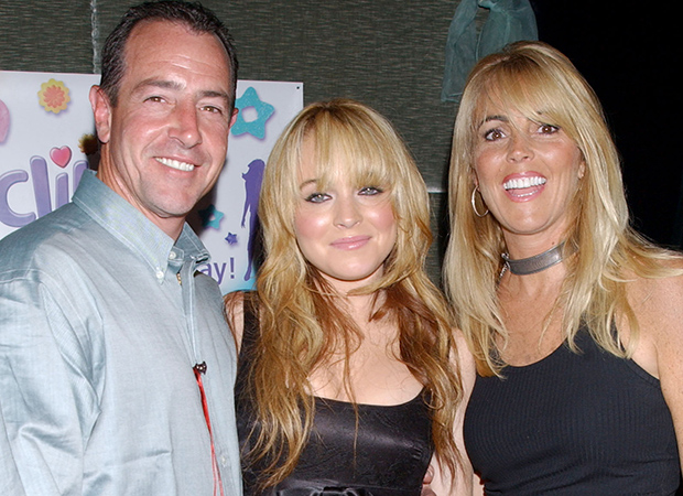 Micheal, Dina, and Lindsay Lohan (Getty Images)
