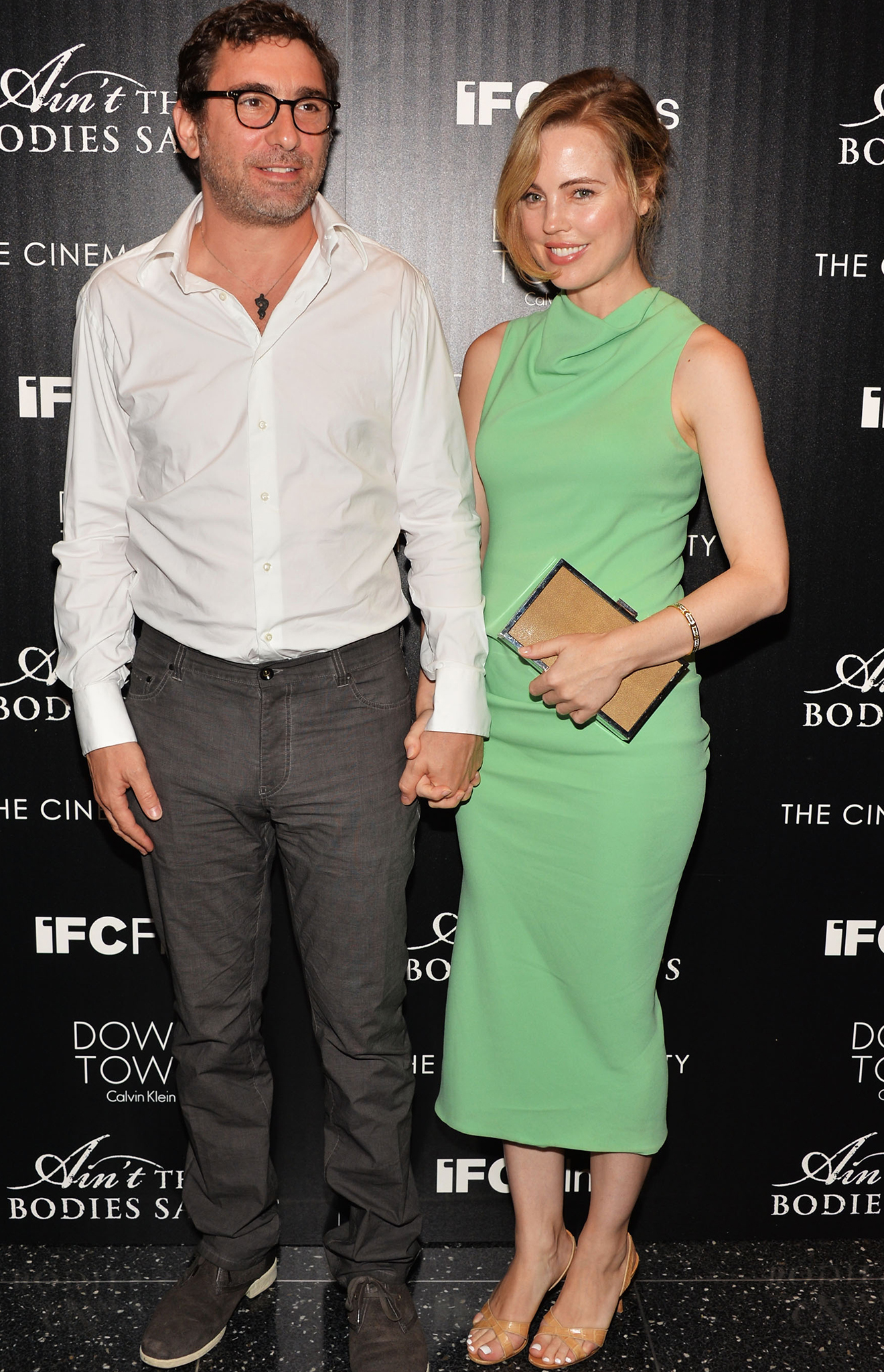 Melissa George and her boyfriend, Jean-David Blanc. (Getty)