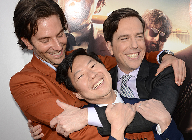 Bradley Cooper, Ken Jeong, and Ed Helms (Getty Images)