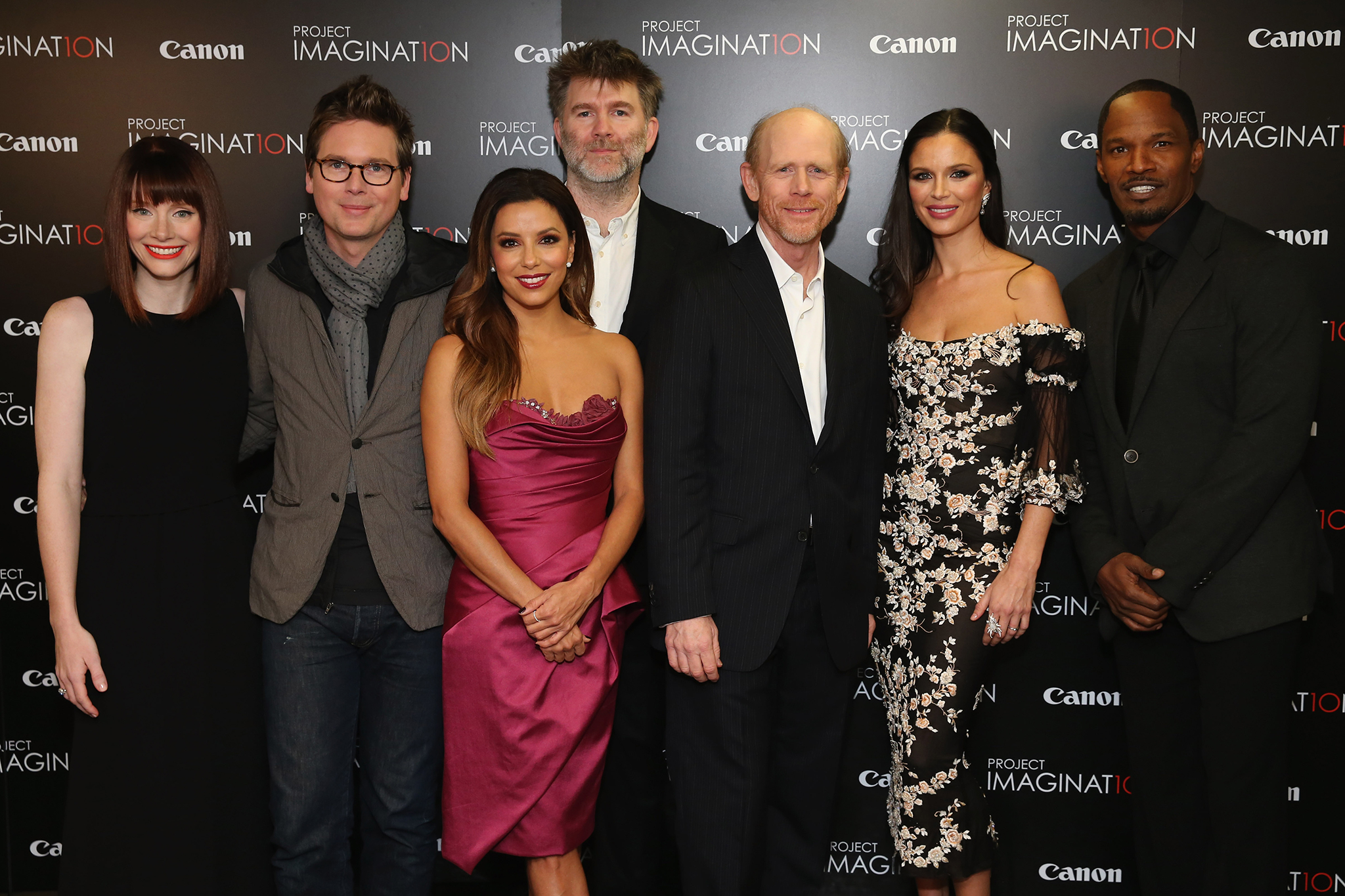 Bryce Dallas Howard, Biz Stone, Eva Longoria, James Murphy, Ron Howard, Georgina Chapman, and Jamie Foxx (Getty Images for Canon's Project Imaginat10n)