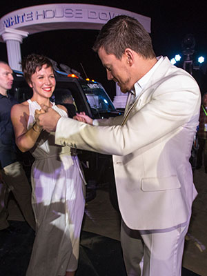 Gyllenhaal and Tatum dancing (Christopher Polk/Getty Images)