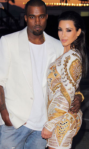 Kanye West and Kim Kardashian (Wireimage)