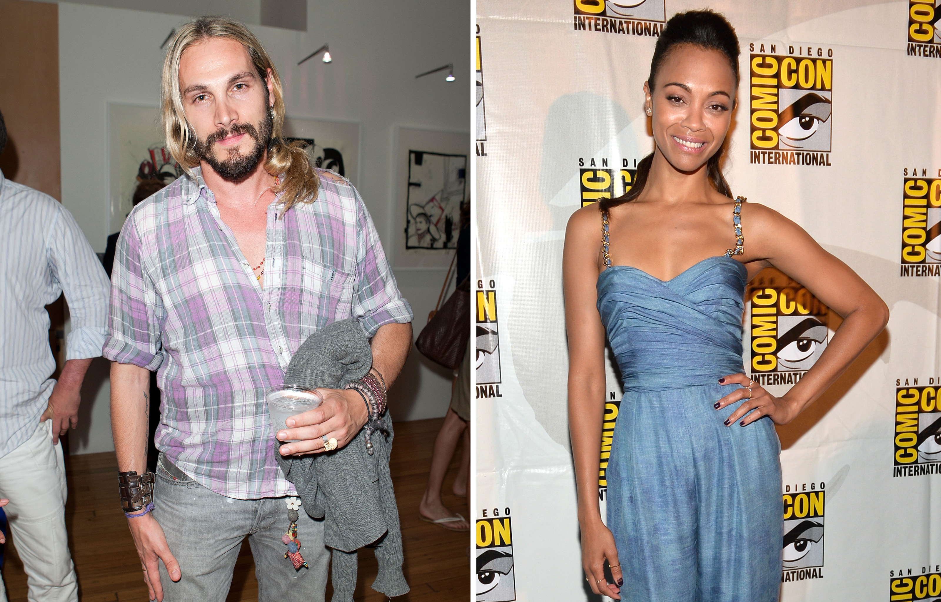 Marco Perego and Zoe Saldana (Dario Cantatore/Getty Images)
