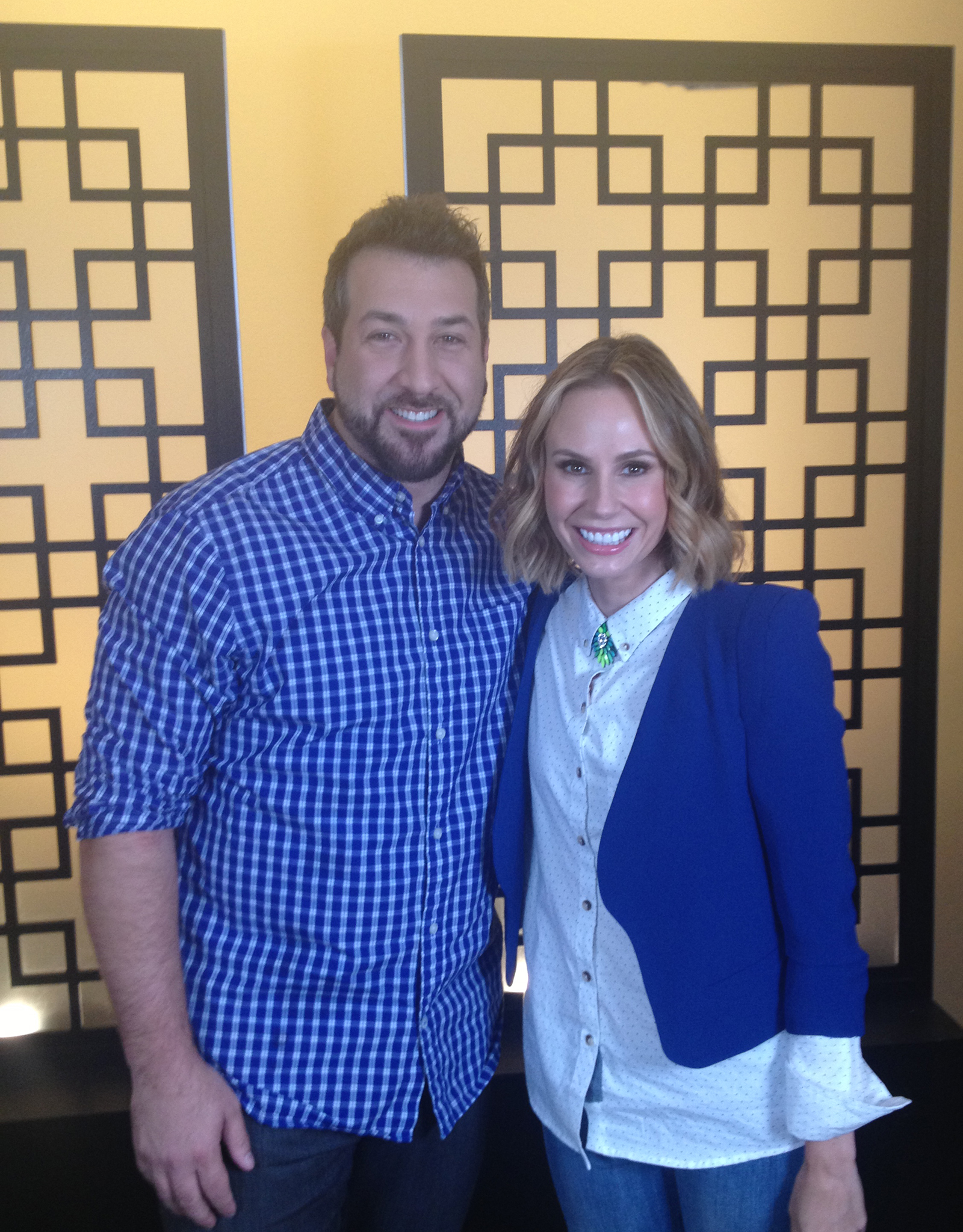 Joey Fatone and Keltie Knight (omg! Insider)