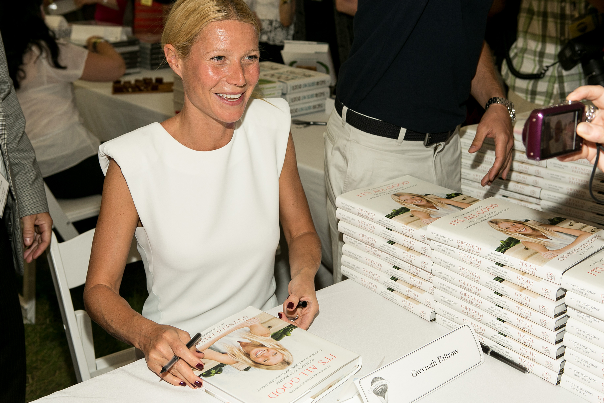 Gwyneth Paltrow upset authors at the East Hampton Library's 9th Annual Authors Night on 8/10/13 (Getty Images)