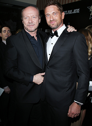 Gerard Butler and Paul Haggis (Getty Images)