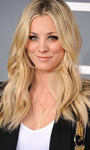 Actress Kaley Cuoco and her usual hairstyle. (WireImage)
