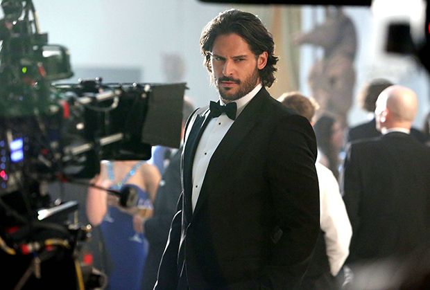 Manganiello on the set of the Magnum mini-movie.