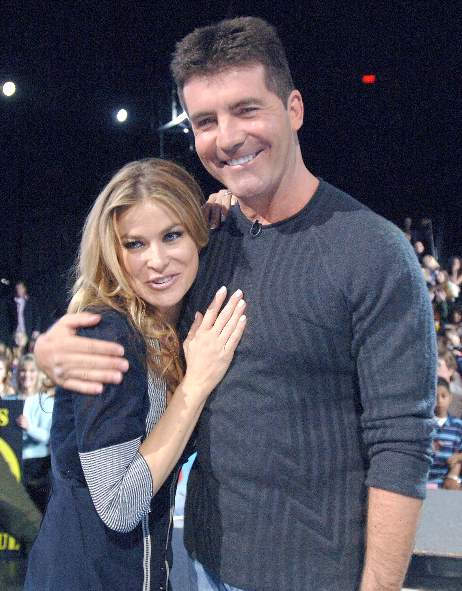 Simon Cowell and Carmen Electra (Ray Mickshaw/WireImage)