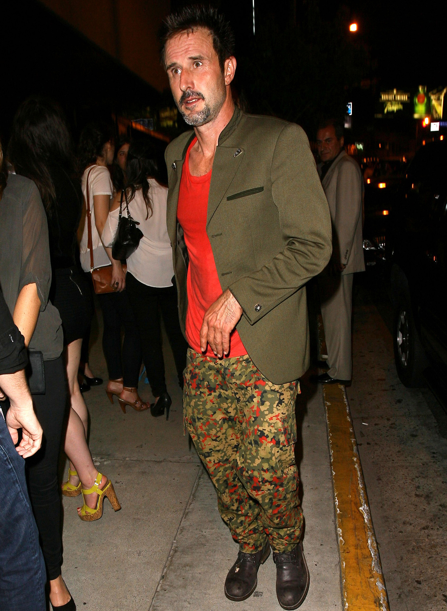 David Arquette steps out over the weekend. (PER/FAMEFLYNET)
