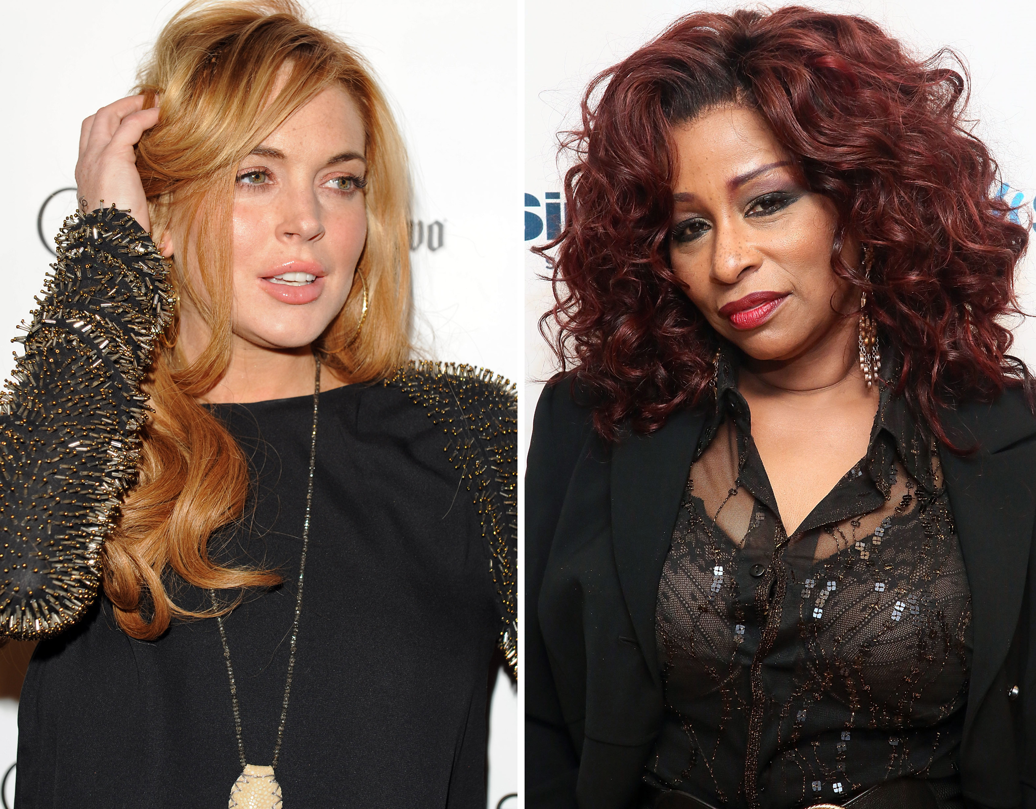 Lindsay Lohan / Chaka Khan (WireImage / Getty Images)