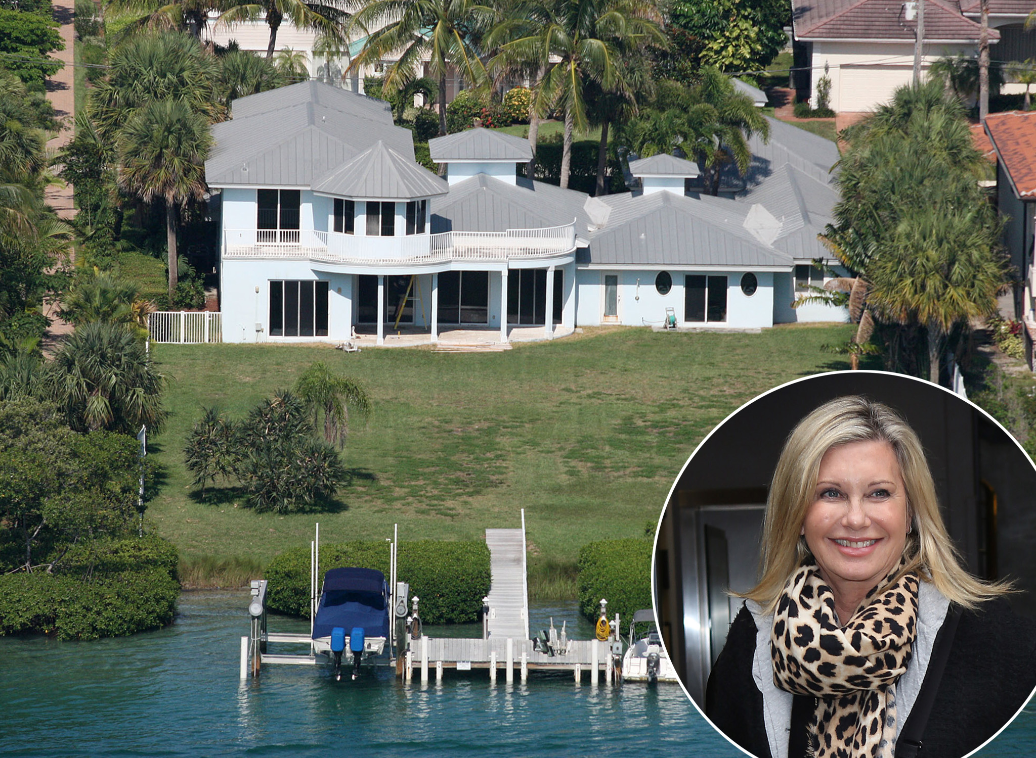 A death occurred at Olivia Newton John's home (Splash News/FilmMagic)
