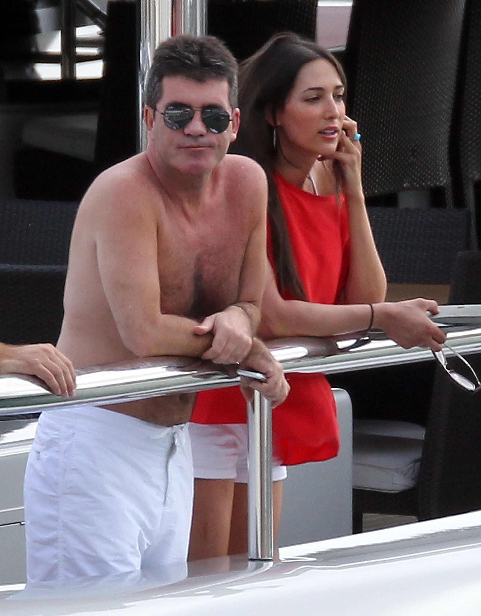 Simon Cowell and Lauren Silverman, 2011 (INFphoto.com)