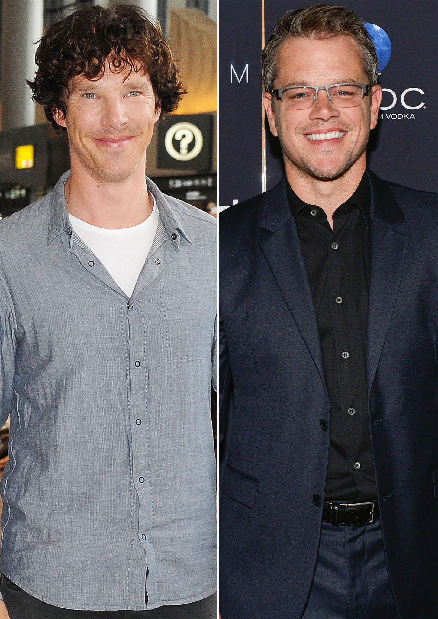 Benedict Cumberbatch and Matt Damon (Getty Images)