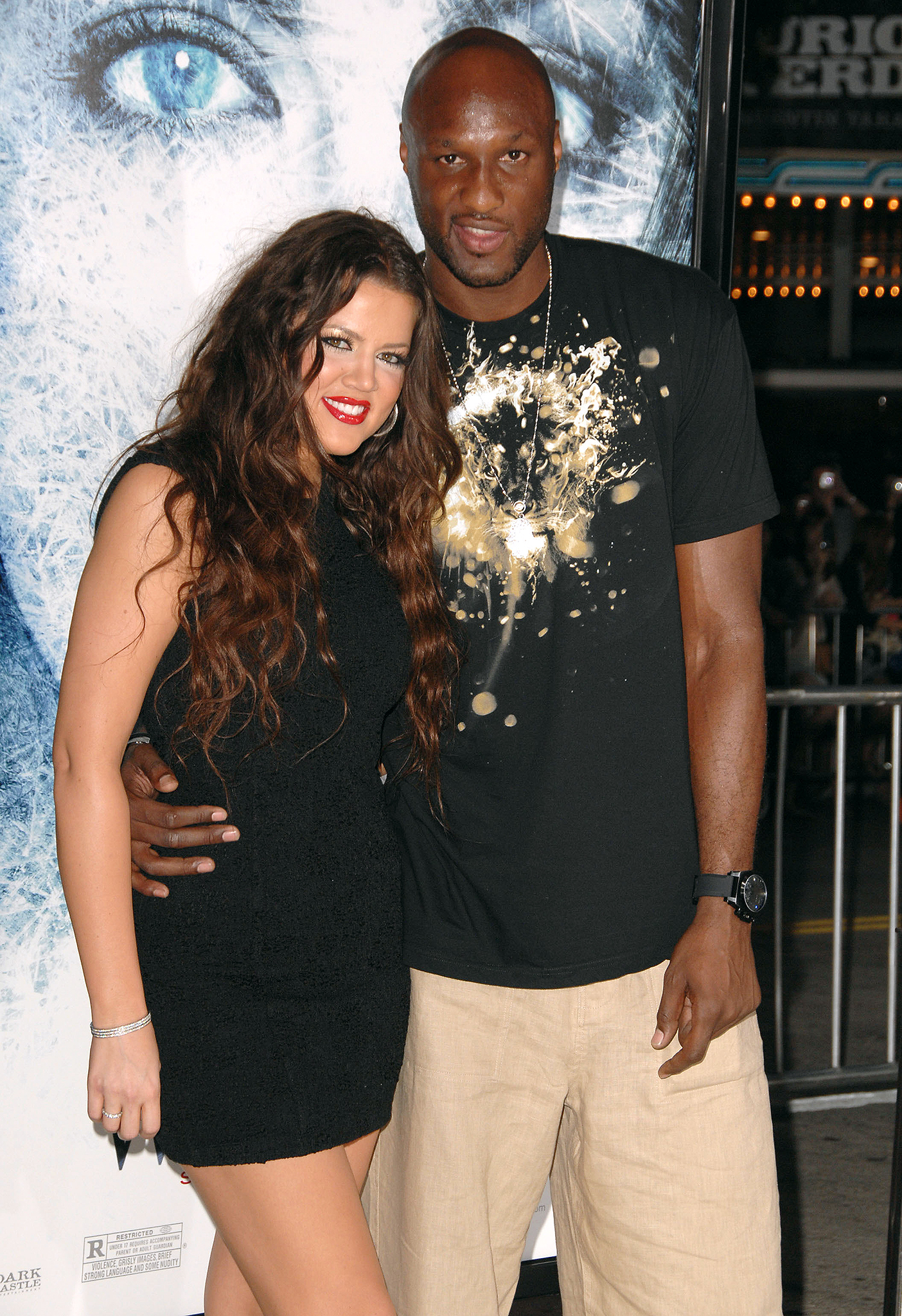 Khloé Kardashian and Lamar Odom in happier times. (WireImage)