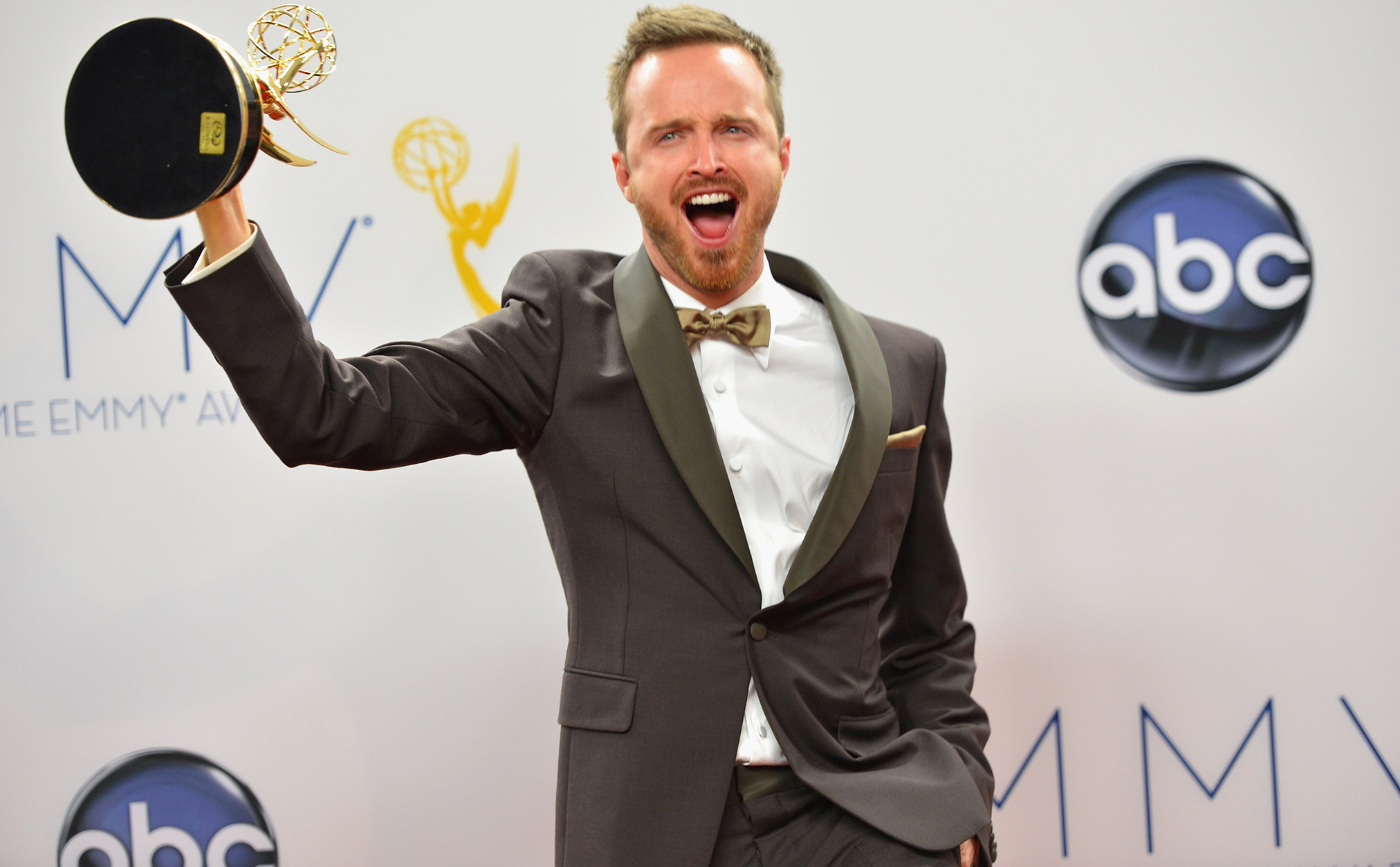 Aaron Paul could take home his third Emmy next month. (Getty Images)
