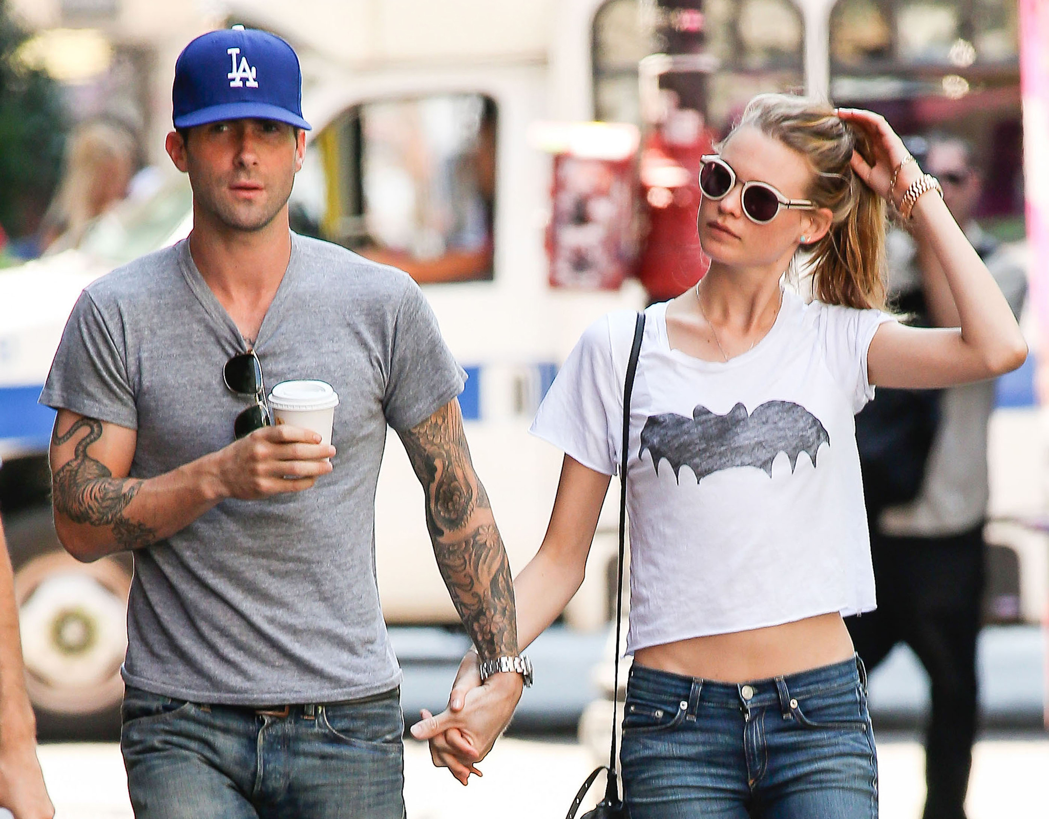 Adam Levine and Behati Prinsloo (FameFlynet)