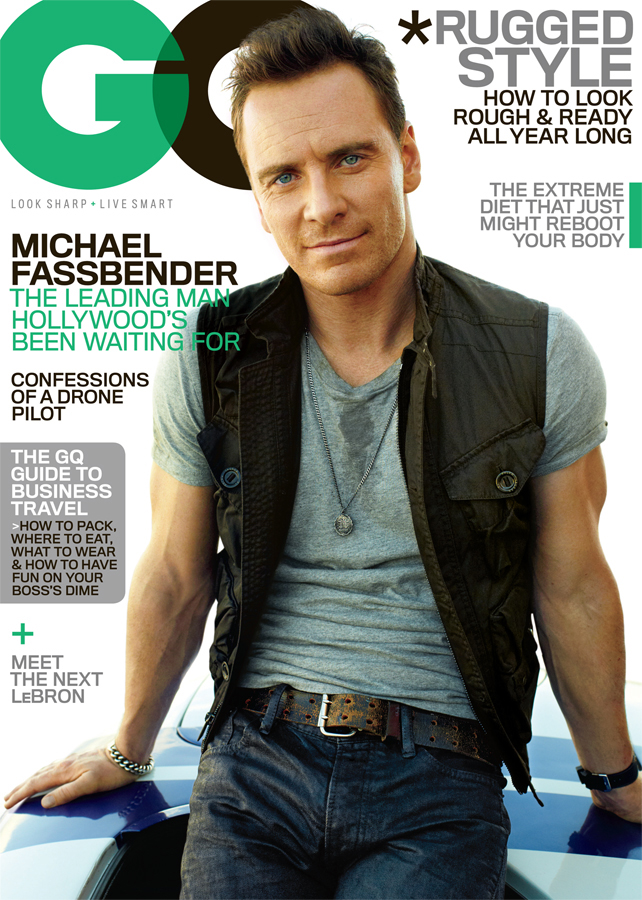 Michael Fassbender on the cover of GQ (Peggy Sirota / GQ)