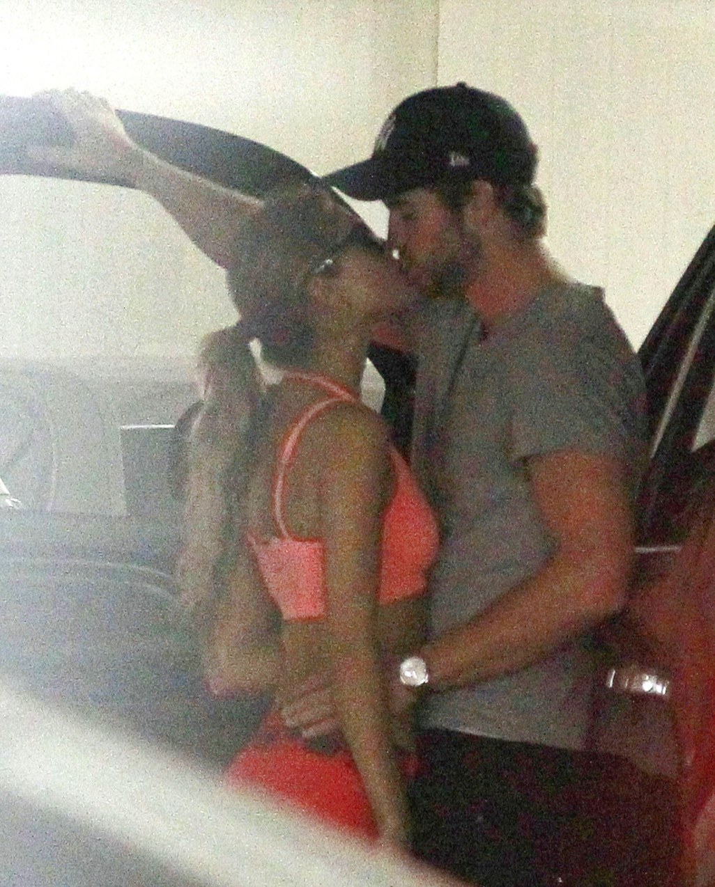 Liam Hemsworth with Eiza González in Beverly Hills on Tuesday. (Pacific Coast News)