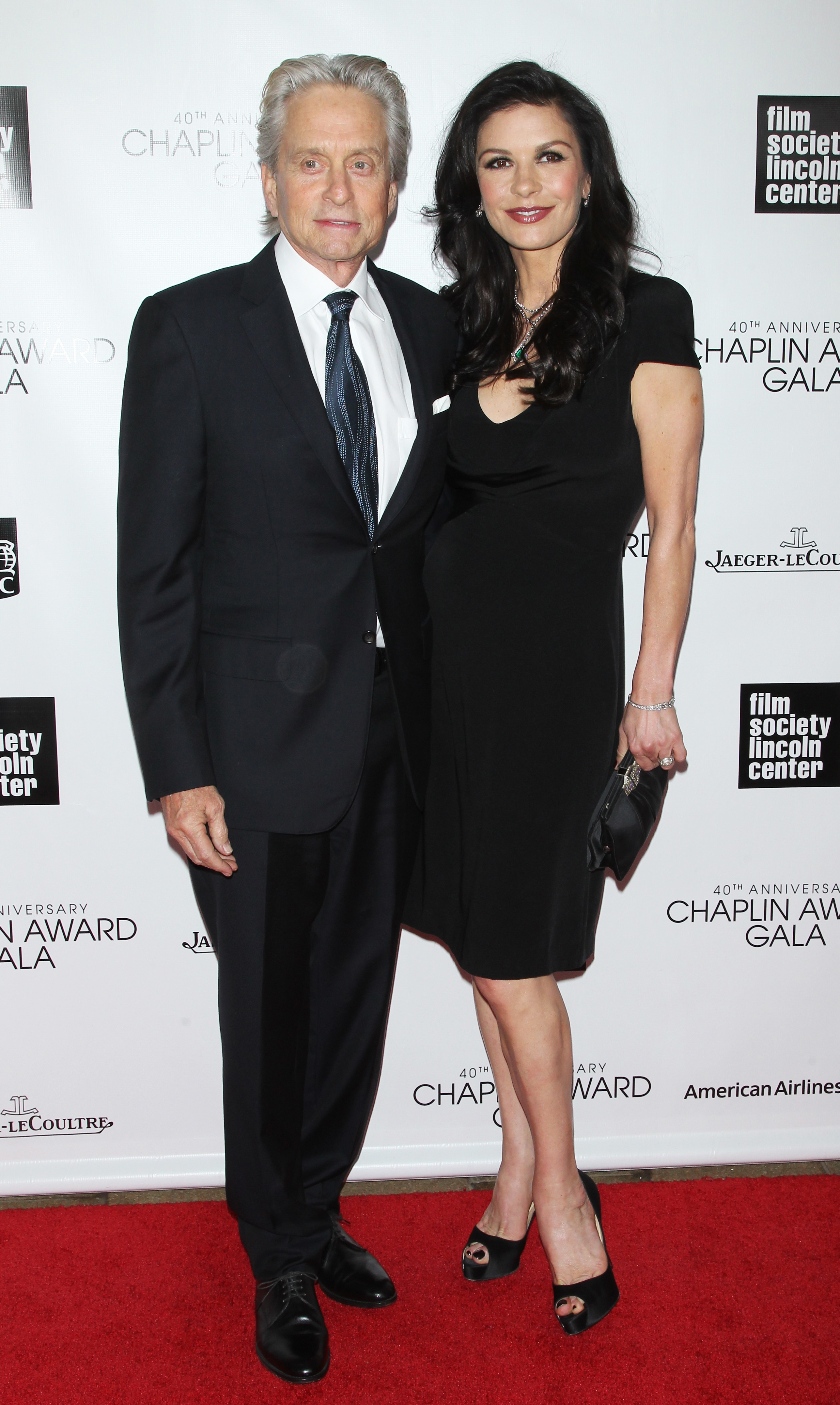 Michael Douglas and Catherine Zeta-Jones made their last red carpet appearance on April 22. (Getty Images)