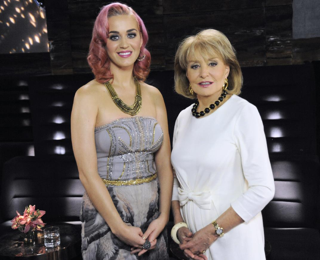 Fake smiles? Katy Perry and Barbara Walters on Nov. 16, 2011 (Photo: AP/ABC, Donna Svennevik)
