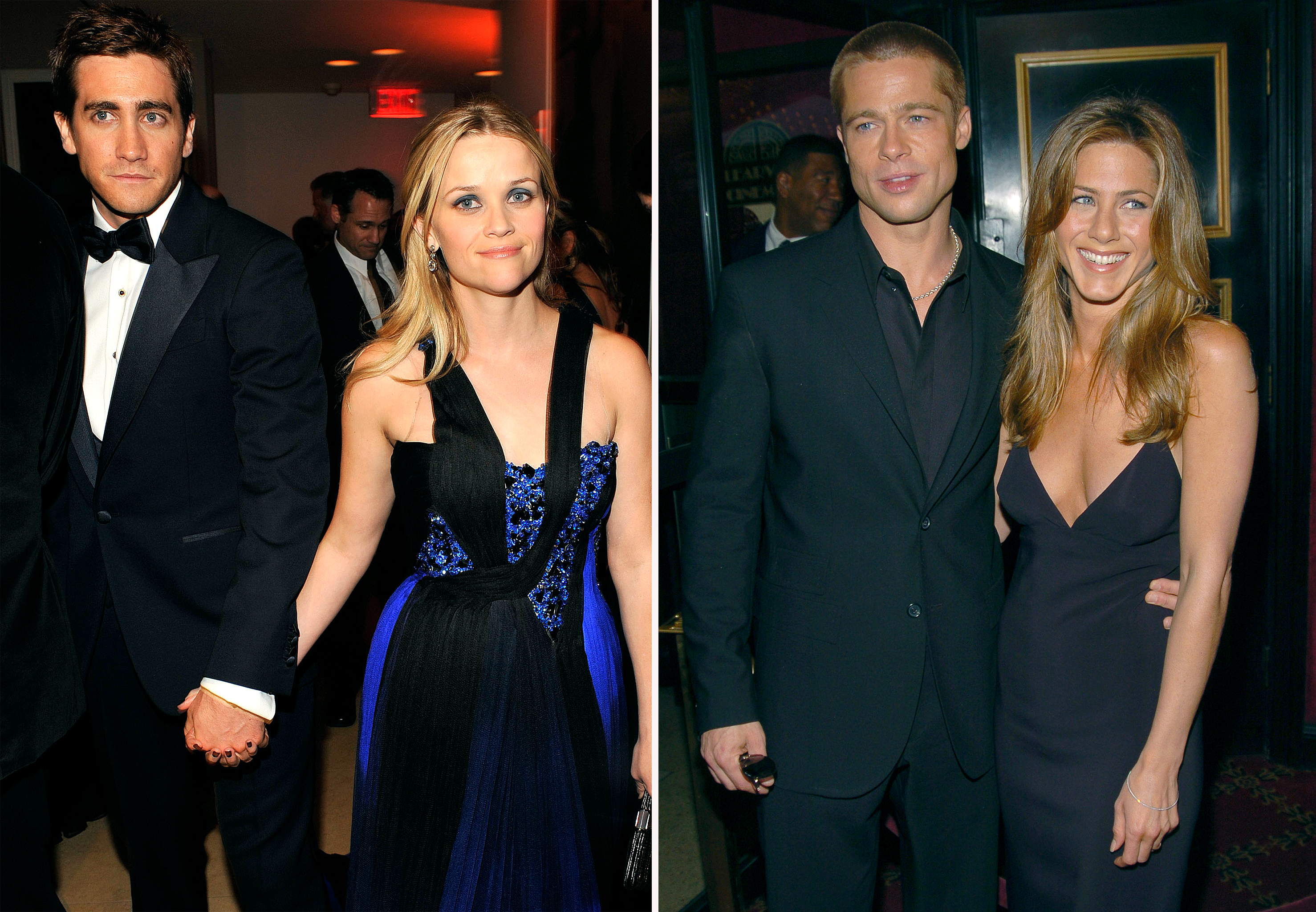 Jake Gyllenhaal and Reese Witherspoon, Brad Pitt and Jennifer Aniston (FilmMagic/WireImage)