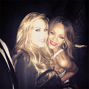 Adrienne and Rihanna at Supperclub