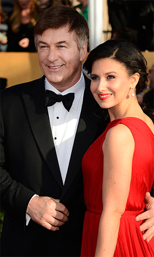 Alec Baldwin and Hilaria Thomas at SAG's (Getty Images)