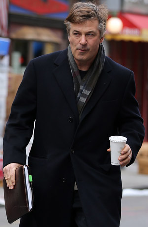 Alec Baldwin outside his NYC apartment on February 19 (Splash News)