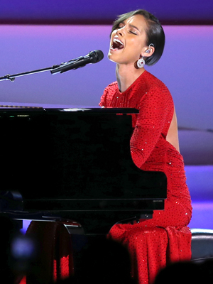 Alicia Keys at the Public Inaugural Ball, January 21, 2013 (Mario Tama/Getty Images)