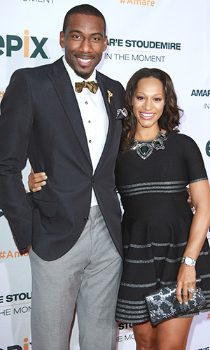 Amar'e Stoudemire and wife Alexis (Jerritt Clark/WireImage)