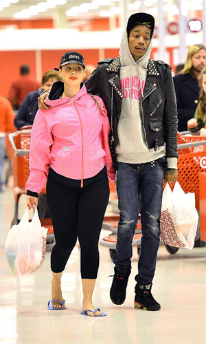 Amber Rose and Wiz Khalifa (Sharpshooter Images, Splash News)
