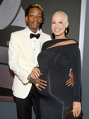 Amber Rose and Wiz Khalifa (Larry Busacca/WireImage)