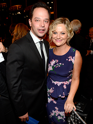 Nick Kroll and Amy Poehler at AFI event (Getty Images)