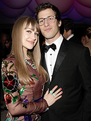 Andy Samberg and Joanna Newsom (Jeff Vespa/VF13/WireImage)