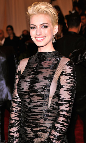 Anne Hathaway at the 2013 Met Gala (Stephen Lovekin/FilmMagic)