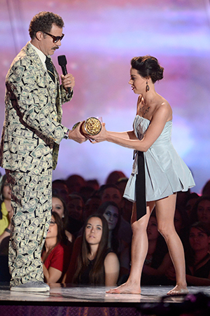 Aubrey Plaza was escorted out after her Will Ferrell prank. (Getty Images)