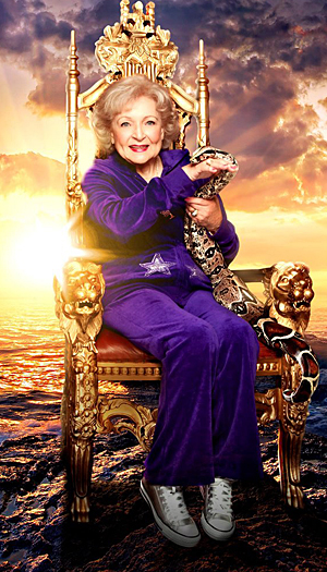Betty White and boa constrictor Jacob (Stephen Terrell/The Lifeline Program)