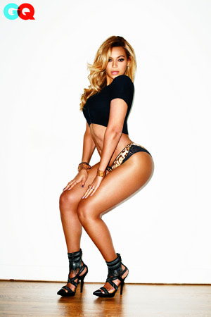 The singer is still Bootylicious! (Terry Richardson/GQ)