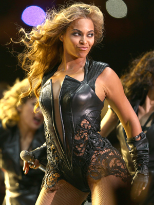 Beyonce wows the crowd at the Super Bowl. (Christopher Polk/Getty Images)